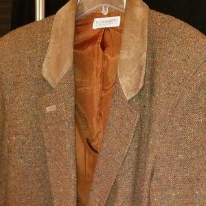 Suede Lapel Coat